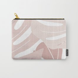 Pink monstera leaves Carry-All Pouch
