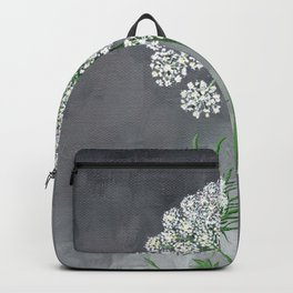 Queen Anne's Lace Flower Painting Backpack