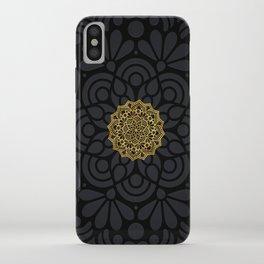 """Black & Gold Arabesque Mandala"" iPhone Case"