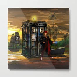 10th Doctor who Lost in the pirates age iPhone 4 4s 5 5s 5c, ipod, ipad, pillow case and tshirt Metal Print