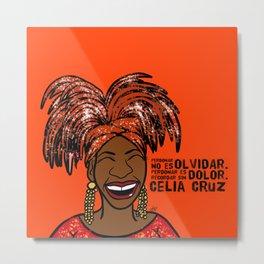 La Reina Celia Cruz Metal Print