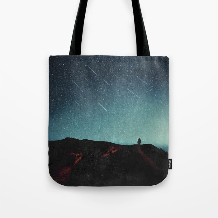 night of falling stars Tote Bag