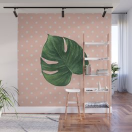 Leaf & Polka Dots Wall Mural