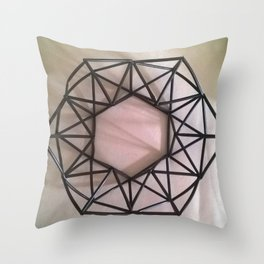 Straw wreath Throw Pillow