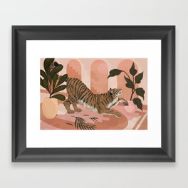 Easy Tiger Framed Art Print