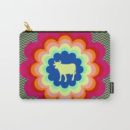 Cow Flower Power Carry-All Pouch