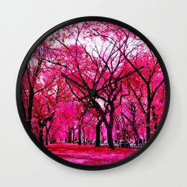 spring blossom park Wall Clock