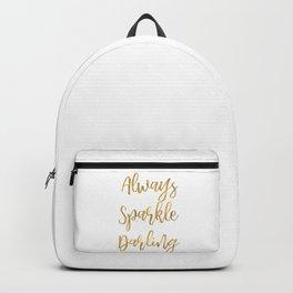 Gold Always Sparkle Darling Backpack
