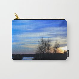 River in Flood at Sunset Carry-All Pouch
