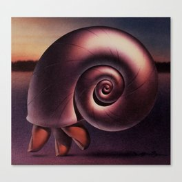 Finger Snail Canvas Print