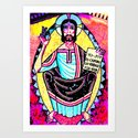Colorful Hippie Jesus by jimmctighe