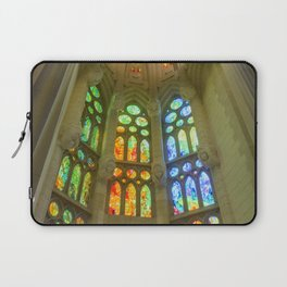 Stained Glass Sagrada Familia Laptop Sleeve