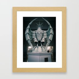 The Eagle from the Hello H5 exposition at la Gaité Lyrique. Framed Art Print