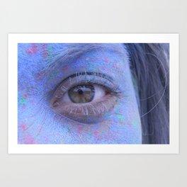 Powder Paint Portrait Art Print