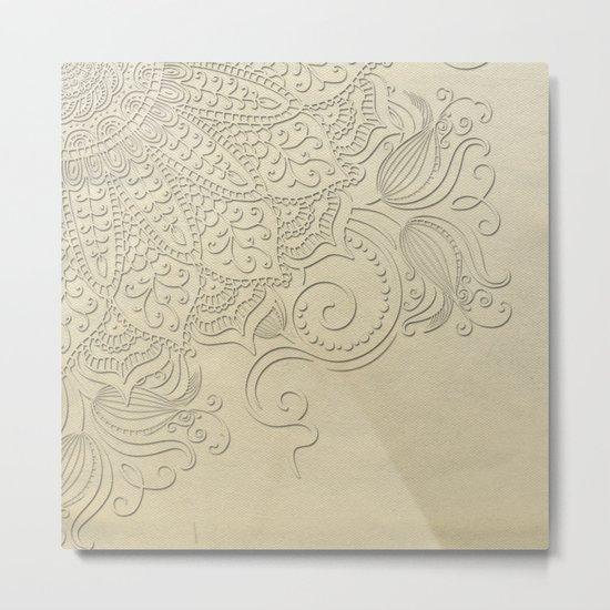 Mandala - Ghost canvas Metal Print