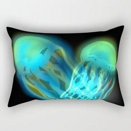 Glowing Jellyfish Rectangular Pillow