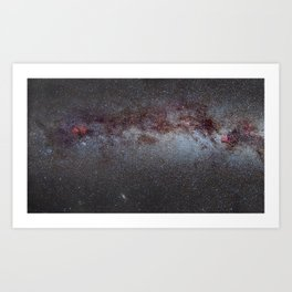 North America Nebula: the Milky way, from Cygnus to Perseus and Andromeda galaxy. Art Print