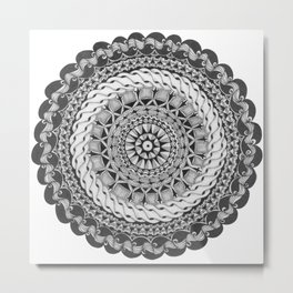 Zendala - Zentangle®-Inspired Art - ZIA 39 Metal Print
