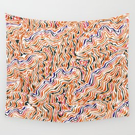 red topography Wall Tapestry
