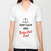 lawyer V-neck T-shirts featuring Better Call Saul by DeBUM