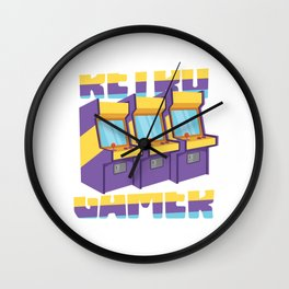 Retro Gamer - Gaming Arcade Machine Wall Clock