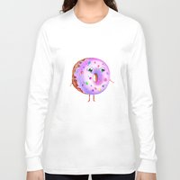 donut Long Sleeve T-shirts featuring Donut by Zaksheuskaya