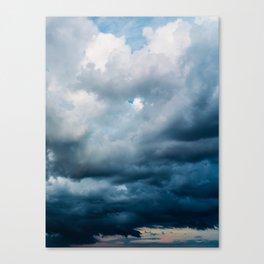 Rain Storm Clouds Gathering On Sky, Stormy Sky, Infinity Canvas Print