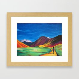 Mendoza walking Framed Art Print