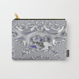 White Lacy Carry-All Pouch