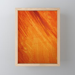 Orange Framed Mini Art Print