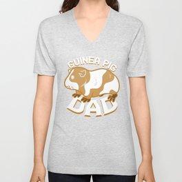 Guinea Pig Dad Unisex V-Neck