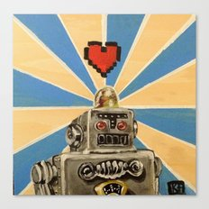 8 Bit Love Machine Canvas Print