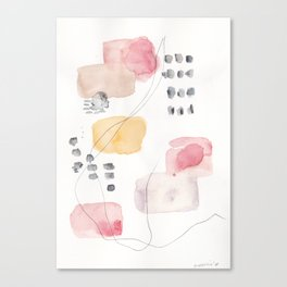 180805 Subtle Confidence 1| Colorful Abstract |Modern Watercolor Art Canvas Print