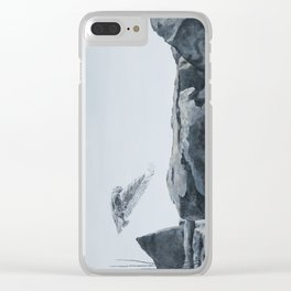 Snowy Owl Of Bronte Harbour by Teresa Thompson Clear iPhone Case