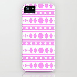 Pink Pattern Tribal iPhone Case