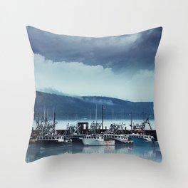 Digby Wharf Throw Pillow