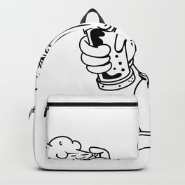Kiwi Bird Graffiti Artist Cartoon Backpack