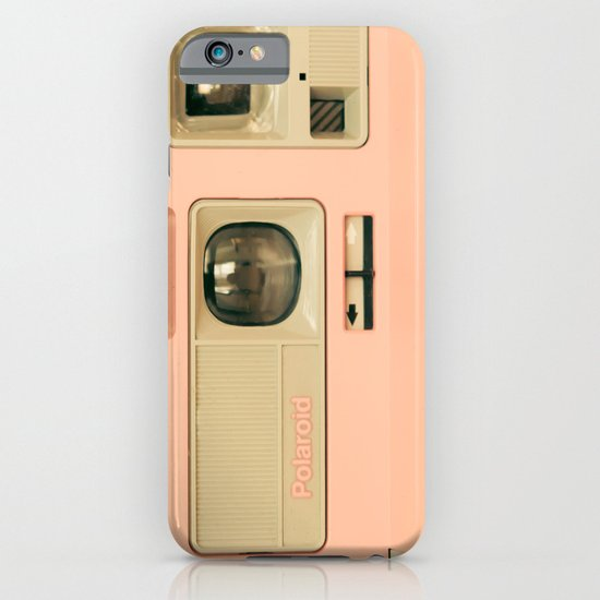 Pink Pola Love vintage camera iPhone & iPod Case