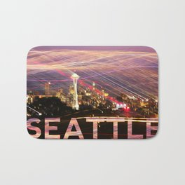 Seattle long exposure  Bath Mat