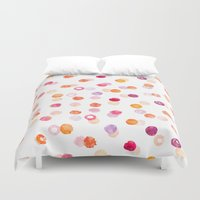 polka Duvet Covers featuring Polka by Eleanor Amelia