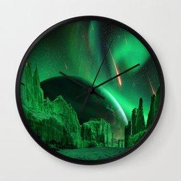 Green Planet Wall Clock