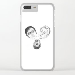 Where's my chippy? Clear iPhone Case