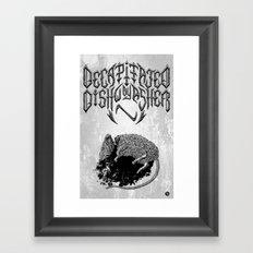 Decapitated by dishwasher I (white) Framed Art Print