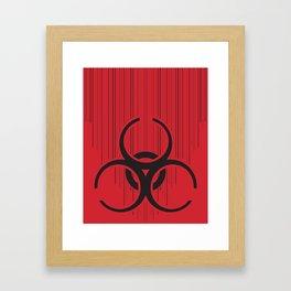 Bio-Drip on Red Framed Art Print