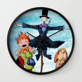 Markl, Turnip Head and Heen - Howl's Moving Castle Wall Clock