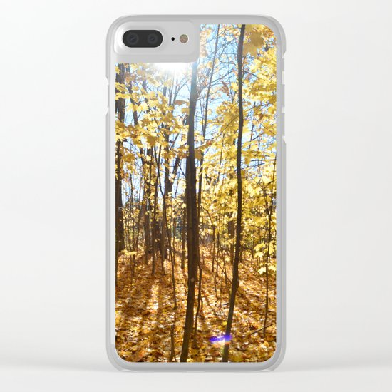 Bright fall day Clear iPhone Case
