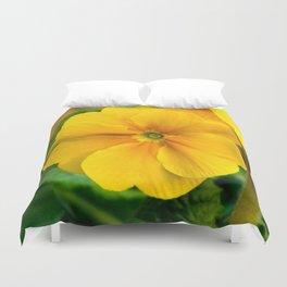 Yellow Heartsease Flower Duvet Cover