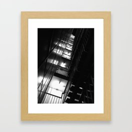 Belgrade | Staircase of a building in New Belgrade Framed Art Print