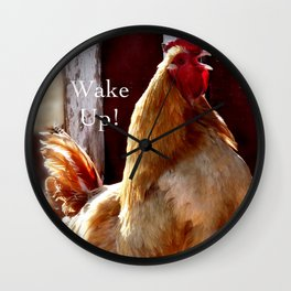 Wake Up! Rooster Wall Clock