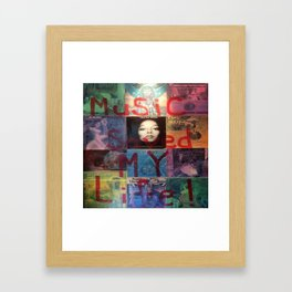 Music Saved My Life by T'Mculus' Soul Framed Art Print